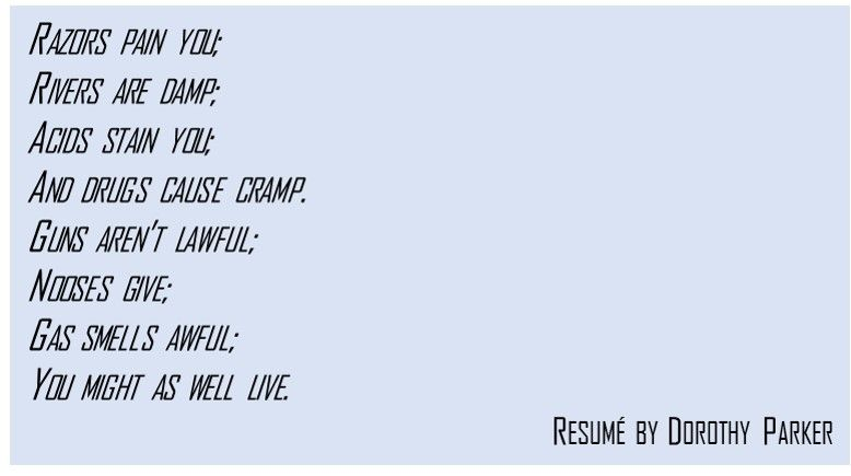 resumé by dorothy parker poetry pinterest dorothy parker and