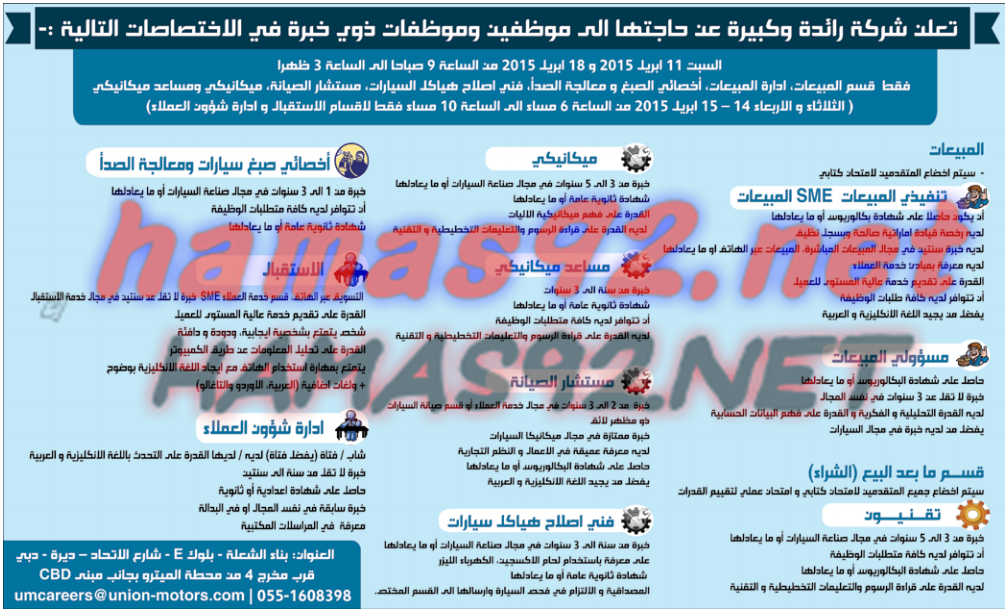 وظائف خاليه فى الامارات وظائف جريدة الوسيط راس الخيمة 11 4 2015 10 Things