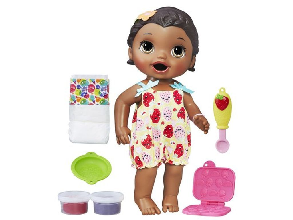 Baby Alive Super Snacks Snackin Lily Doll Brunette Baby Alive Dolls Baby Alive Food Baby Alive