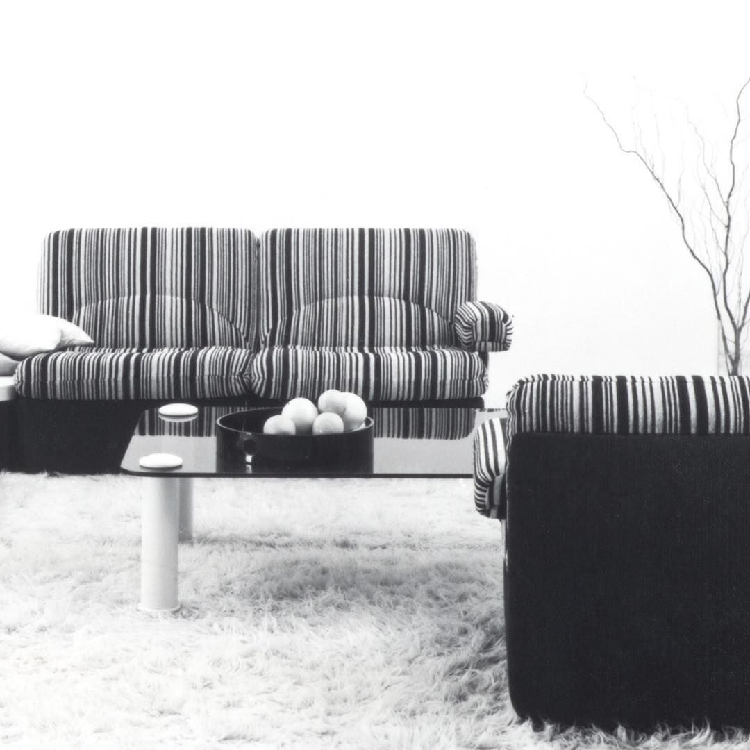 Throwback To 1971 When We Were In Love With Stripes And Wallart Throwbackthursday Rolfbenz Throwback Livingroom Homelover Furniture History Outdoor Furniture Sets Sofa Design Living Room Decor