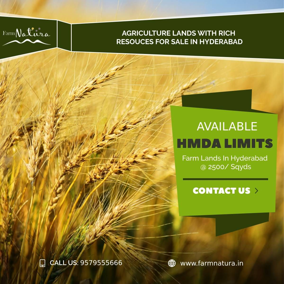 Hurry Up! Agricultural Lands With Rich Resources available