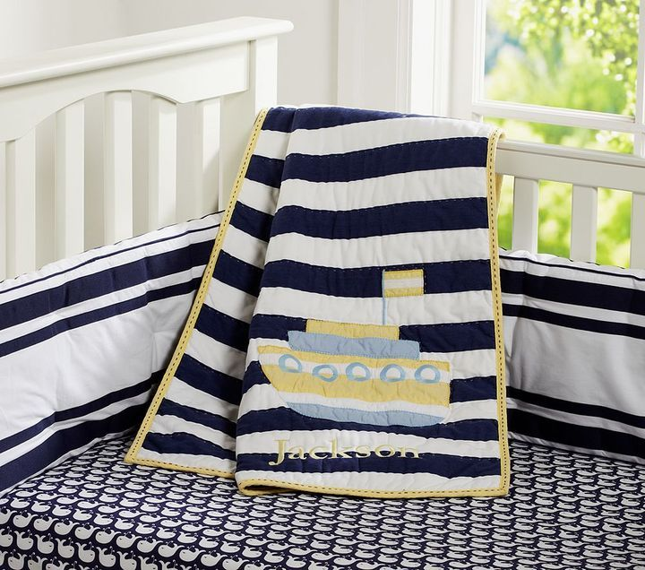 Oceanside Boat Nursery Bedding Thestylecure Com Boats