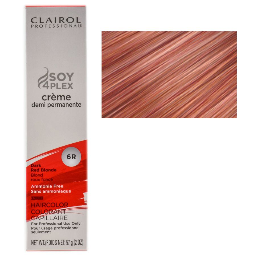 Clairol Soy4plex In 6r Dark Red Blonde Demipermanent This Is The