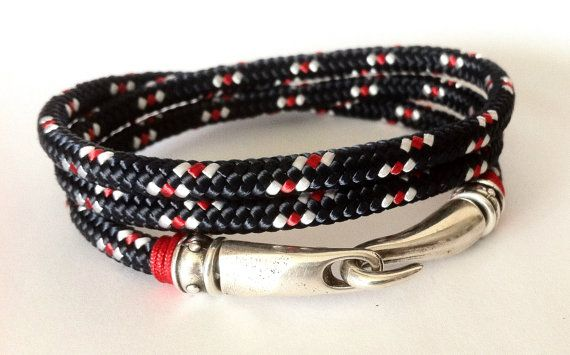 Mens wrap bracelet fabric bracelet whith silver plated by HITUK