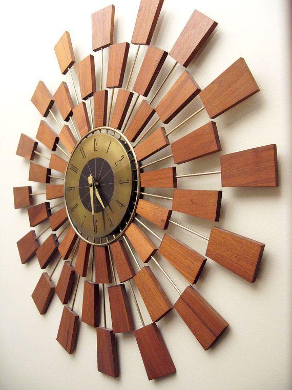 Seth Thomas Grandeur Wall Clock Mid-Century by ObjectOfBeauty