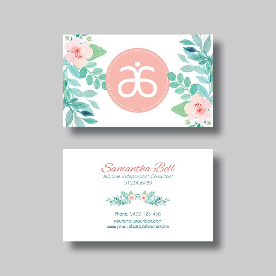 Arbonne Business Card (Floral 2.0) - Digital Design by ...