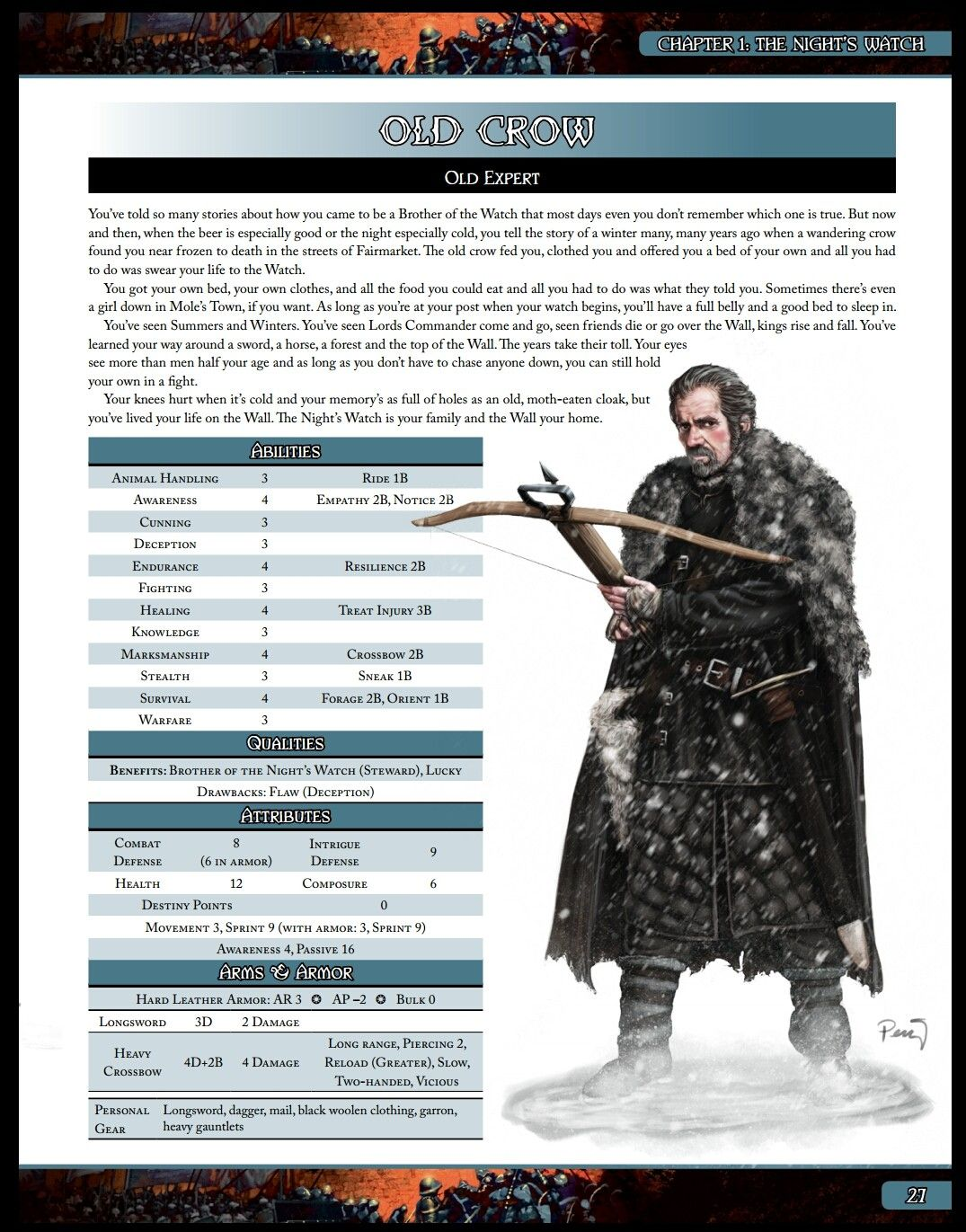 Old Crow (A Song of Ice and Fire Roleplaying Night's