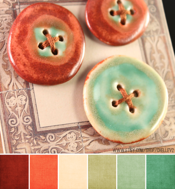 Art Bead Scene Blog: Art Bead Palette :: ChelleV2 -- These colors allow a little more wiggle room than just coral and teal, which I dig :)