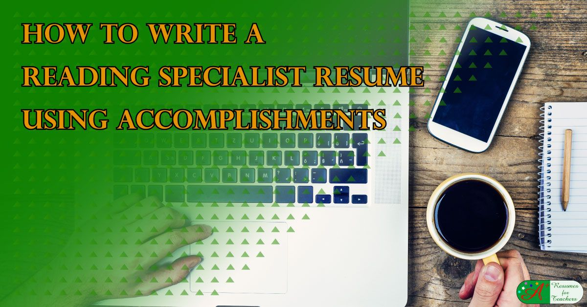 How to write a reading specialist resume using