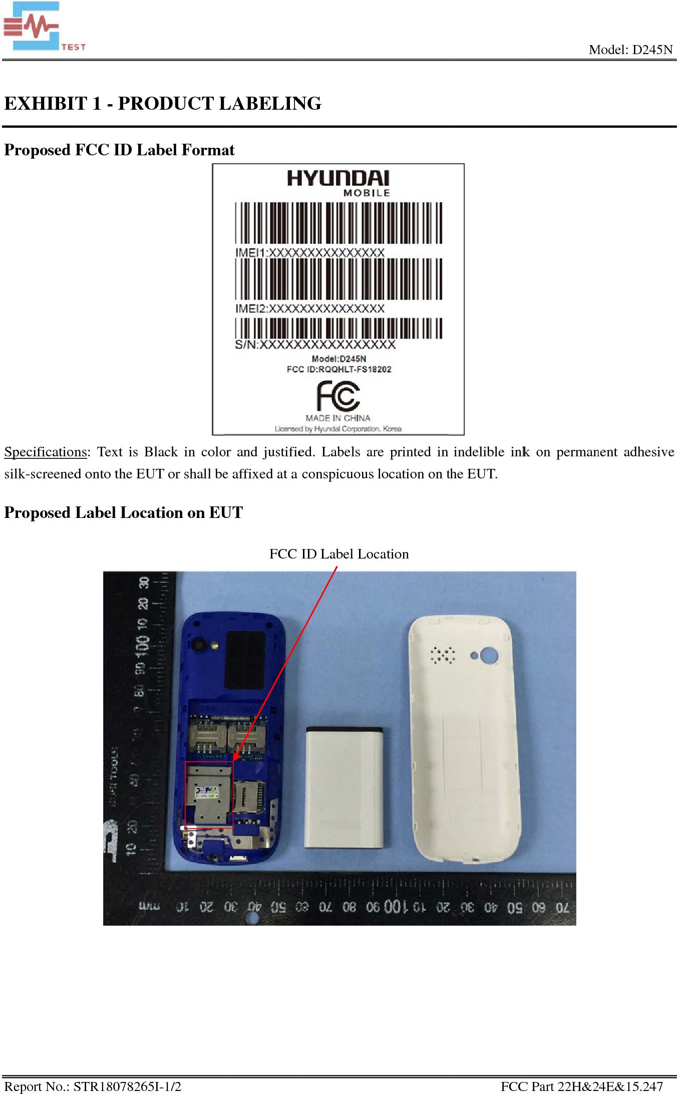 Hyundai Corporation Mobile Phone Hlt Fs18202 Rqqhlt Fs18202 Fcc Application For Mobile Phone Approved For Hyundai Corporation Of S Mobile Phone Mobile Phone