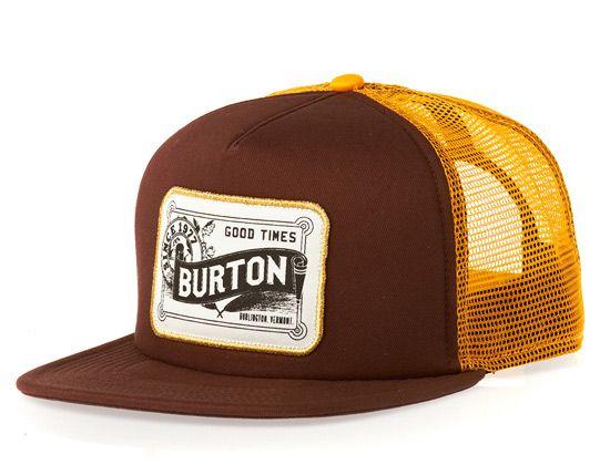 "BURTON ""Draught"" Trucker Snapback Cap  c906fdf7c52"