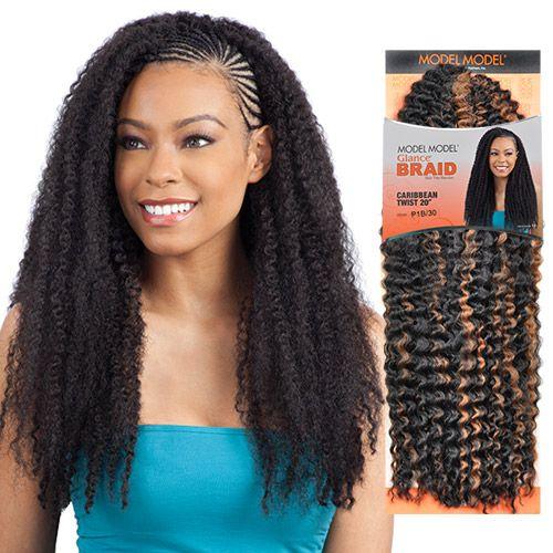 ModelModel Synthetic Hair Braids Glance Caribbean Twist 20 ...