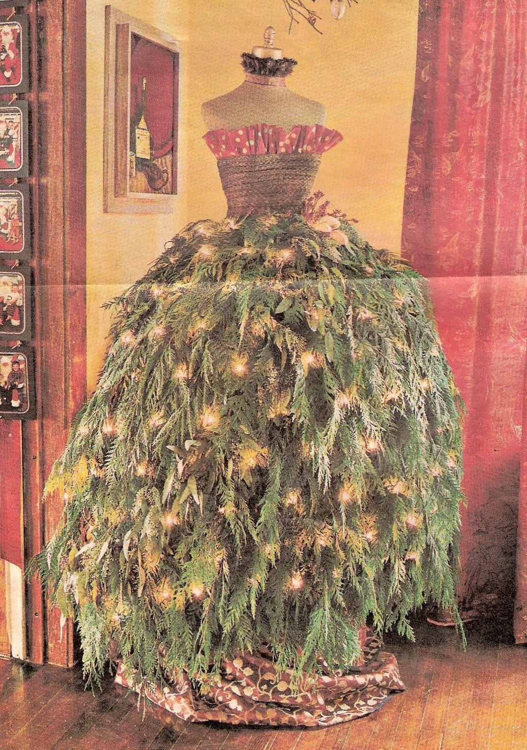 Christmas Tree Dress Form Christmas Trees Of Many