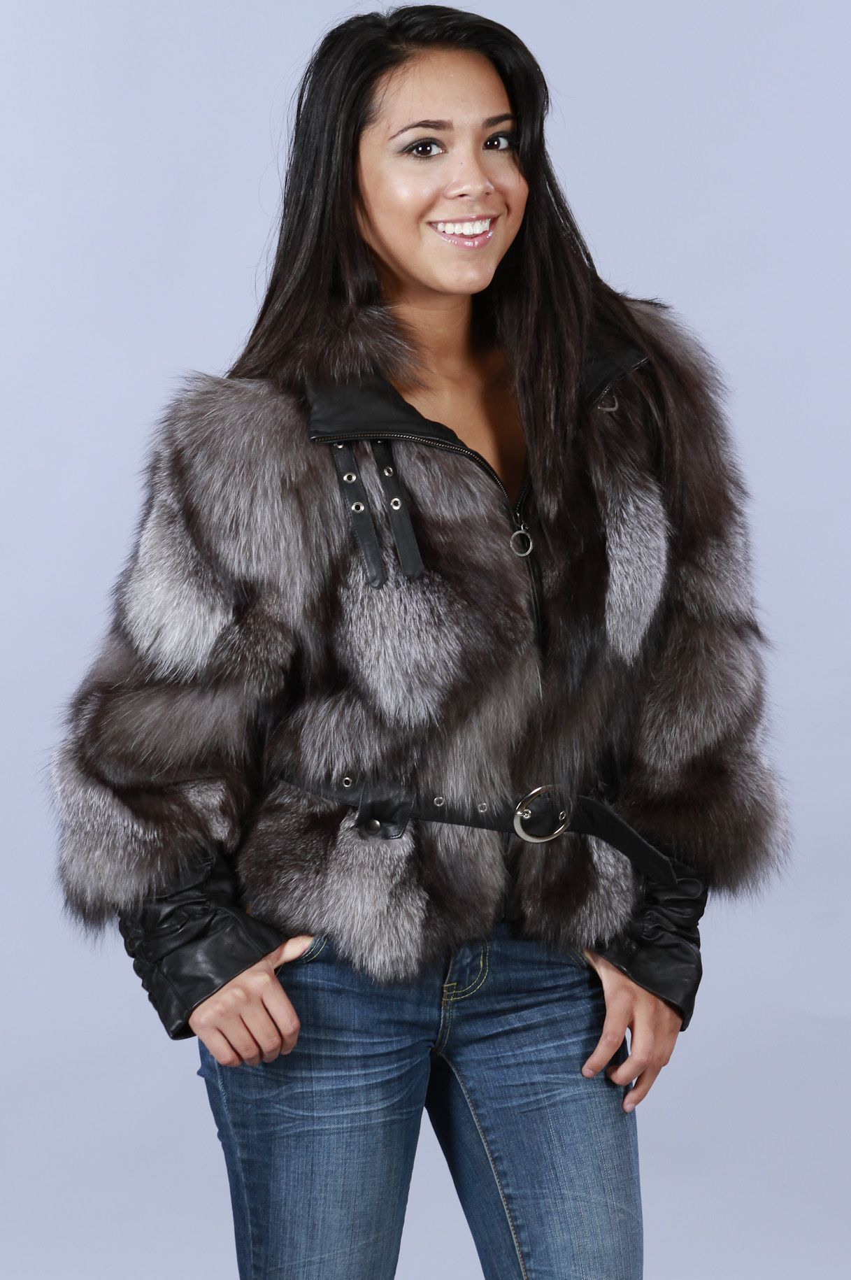 Shop Furs :: Jackets :: Fox Fur and Leather Jacket - Fur coats ...