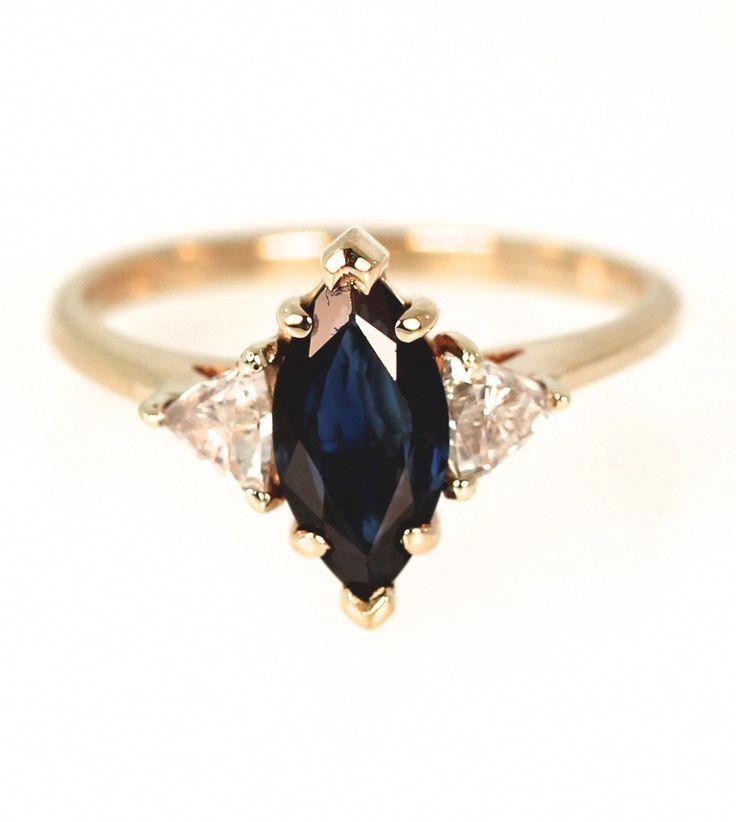 Aquamarine engagement ring rose gold engagement ring vintage Diamond Cluster ring wedding Bridal Set Three stone Anniversary gift for women - Fine Jewelry Ideas #aquamarineengagementring