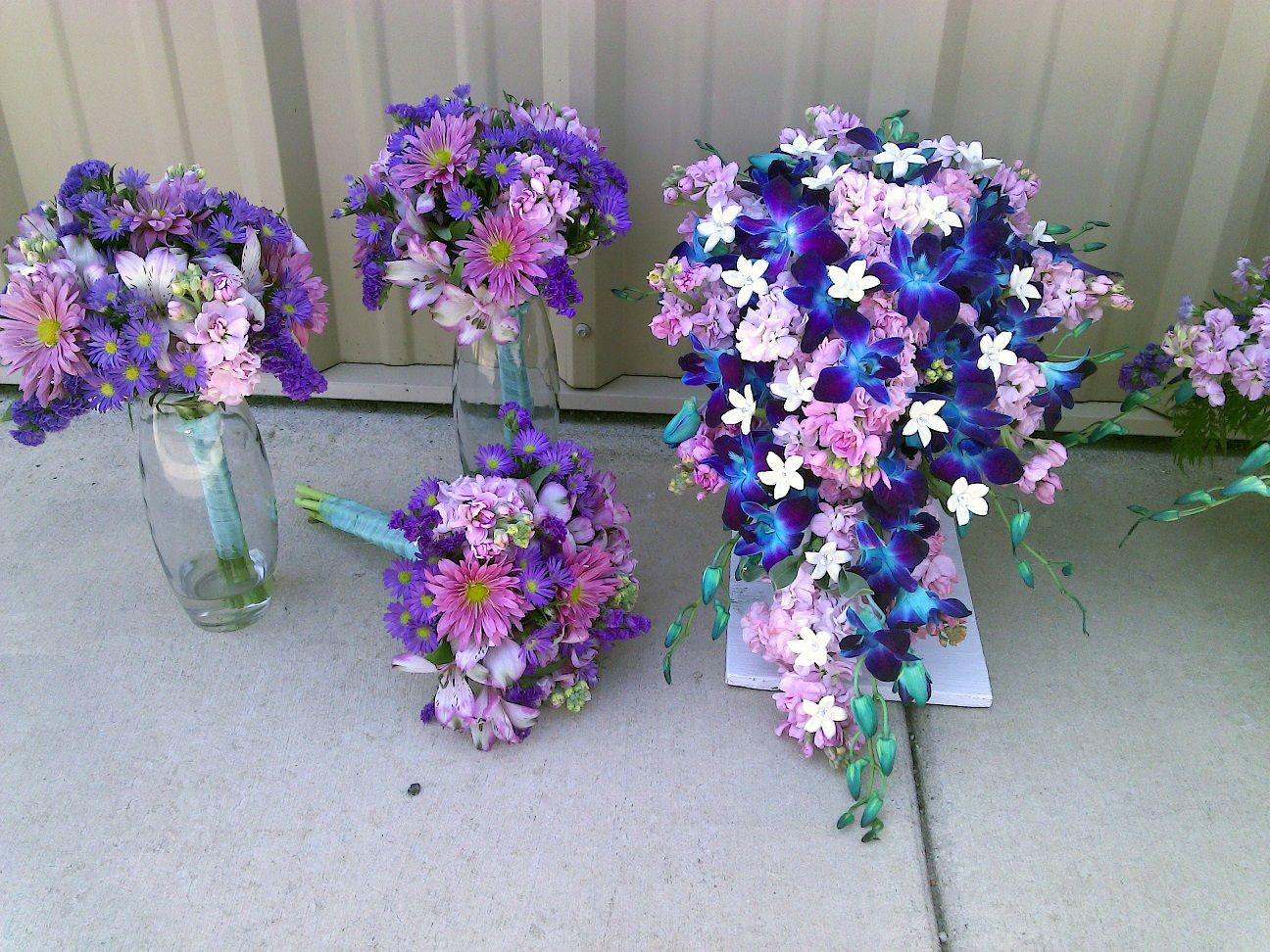 Purple And Blue Wedding Flowers Enchanted Florist Green Bay Wi Valerie Martin