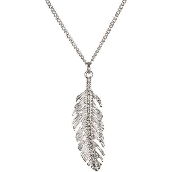 Delicates by paloma ellie silver tone feather pendant necklace delicates by paloma ellie silver tone feather pendant necklace 11 liked aloadofball Images