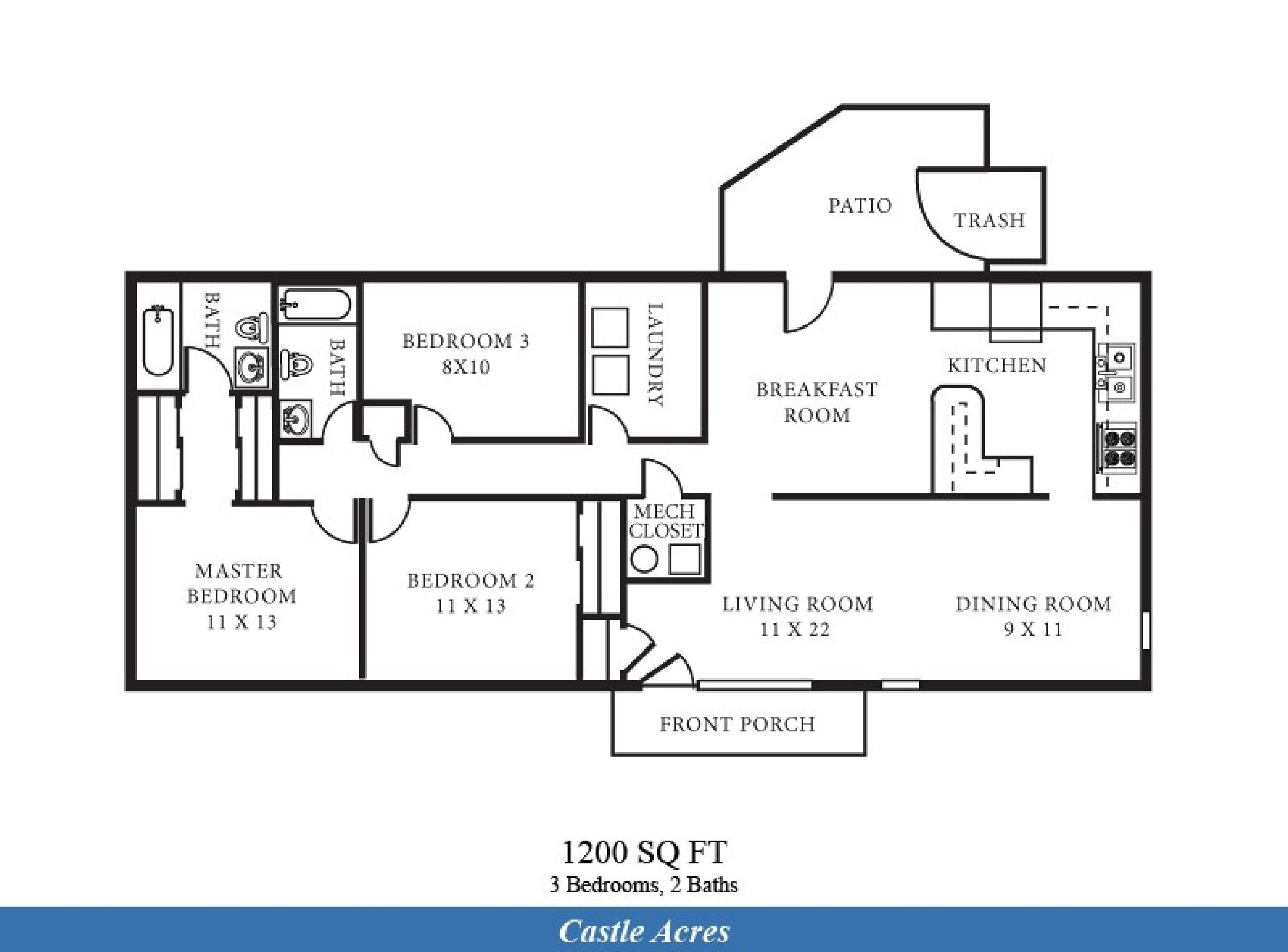 Jacobsen Manufactured Homes Floor Plans 2 Bedroom Bath House Plans Under 1200 Sq Ft