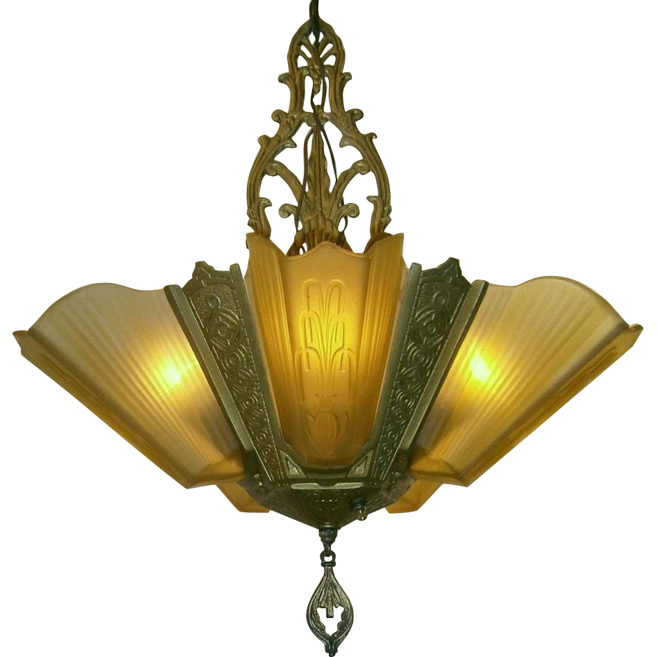Vintage 5 light slip shade chandelier by virden luces vintage 5 light slip shade chandelier by virden aloadofball Gallery