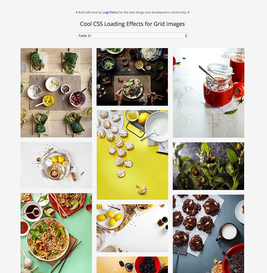 Cool CSS Loading Effects for Grid Images   W E B – D E S I G N ...