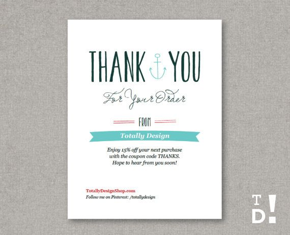 Business Thank You Cards template INSTANT DOWNLOAD Naturally – Business Thank You Card Template