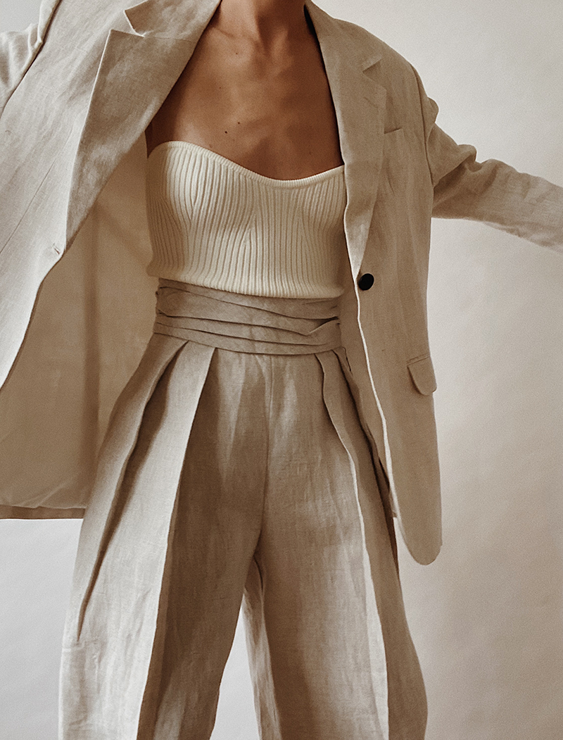 Oversized Linen Suit — MODEDAMOUR