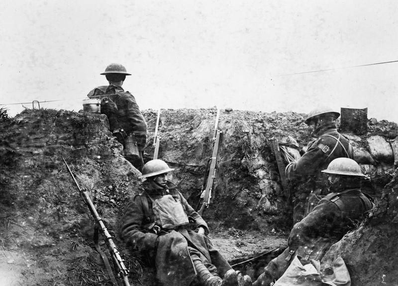 Operation Georgette. Infantry outpost in front of the 41st Division's line at Wieltje, 27 April 1918