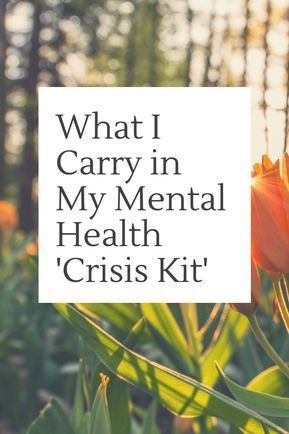 What I Carry in My Mental Health 'Crisis Kit' #health