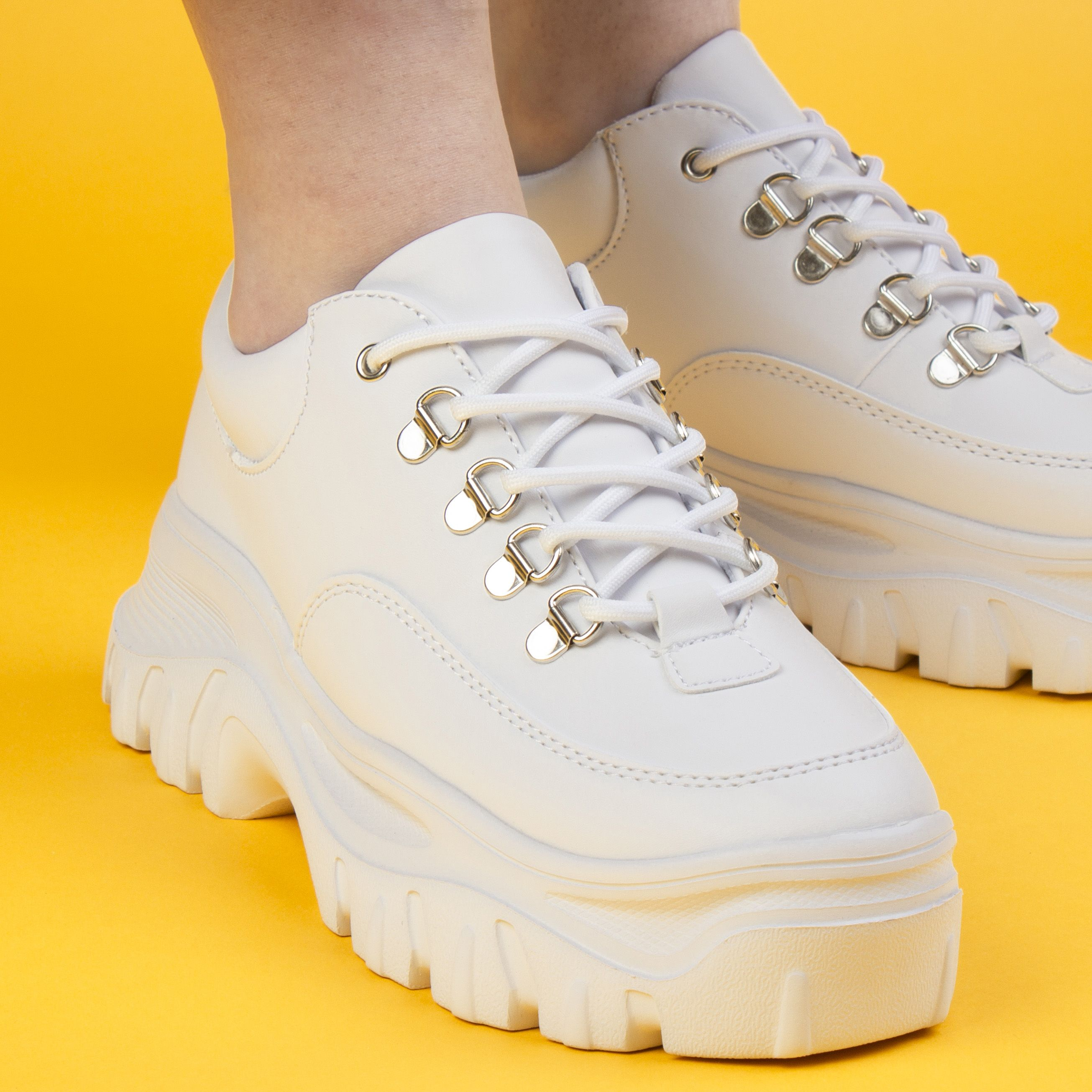 chunky trainer trend with a pair