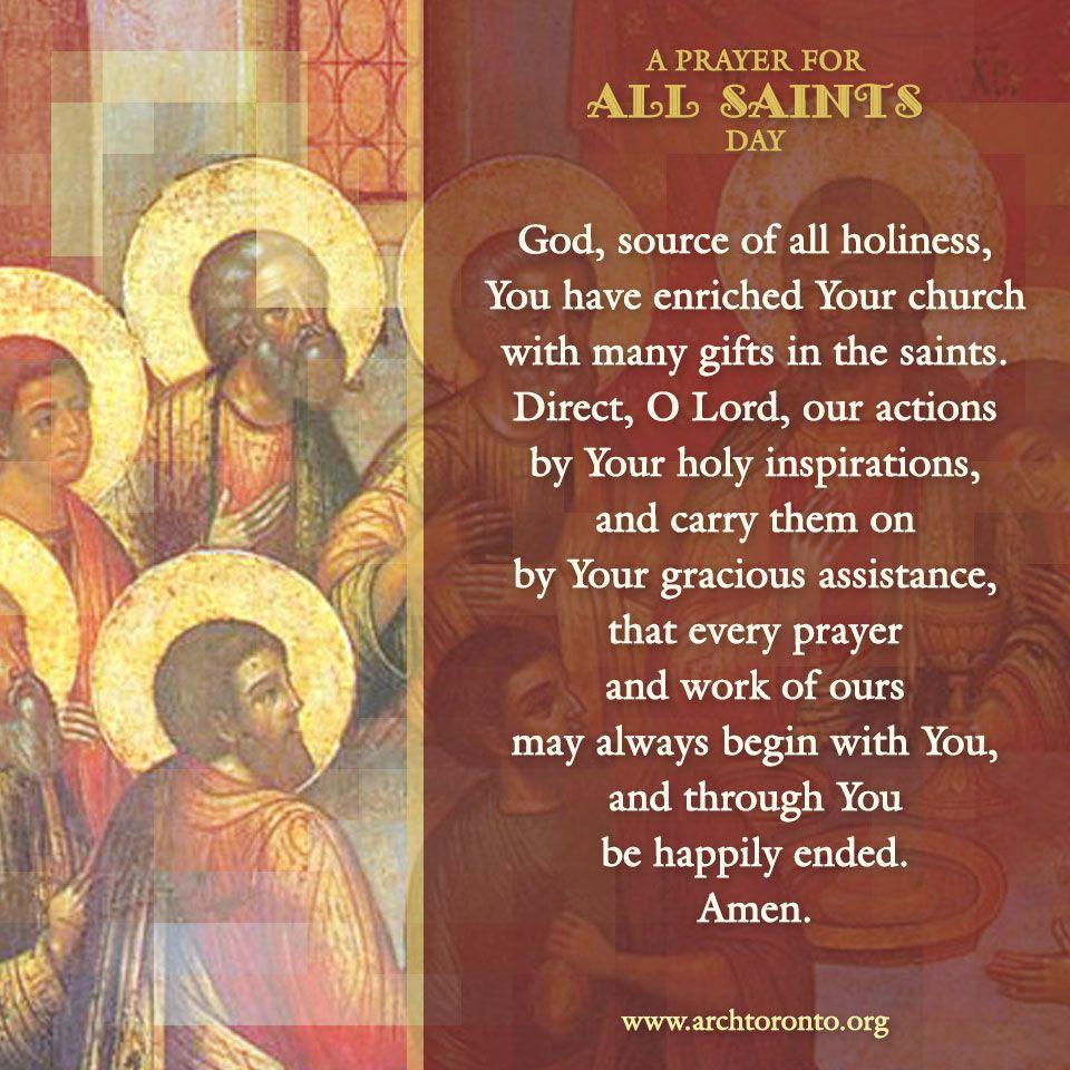 Image result for all saints prayer
