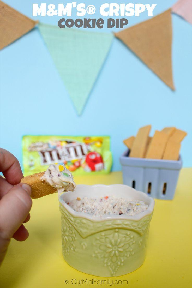 Our Mini Family: M&M's® Crispy Cookie Dip #CrispyIsBack #Ad