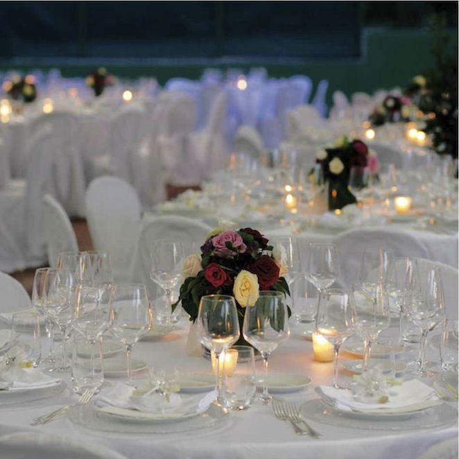 umbria wedding table settings, apparecchiatura bianca