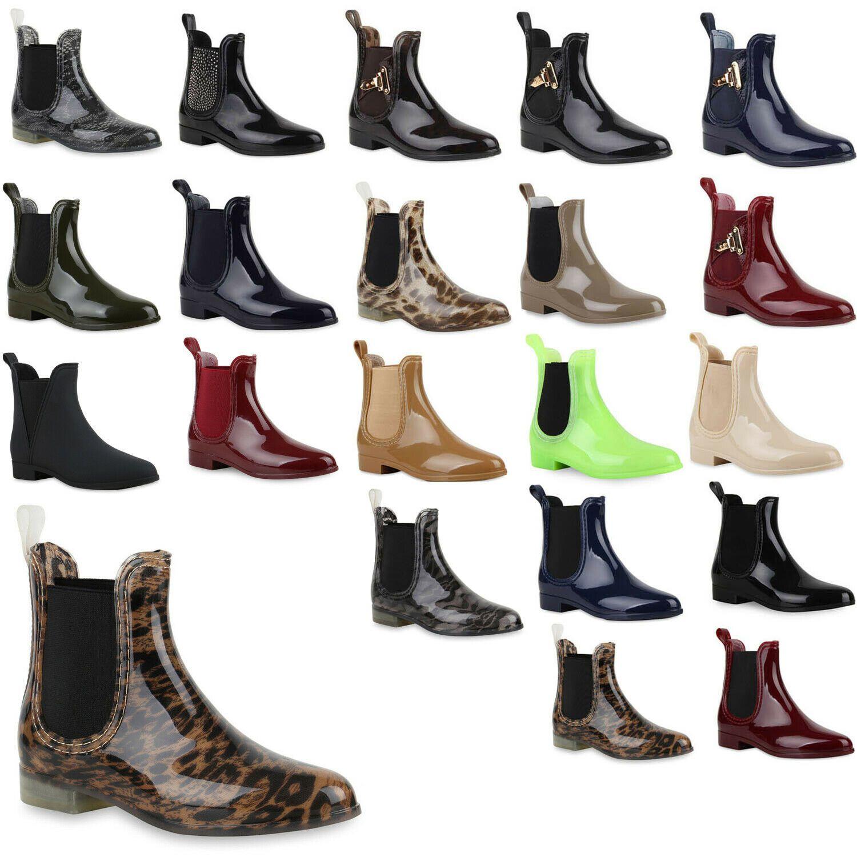 Gummistiefel Chelsea 893925 Stiefeletten Damen Boots Schuhe lF1cTKJ35u