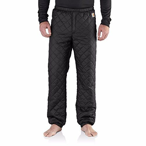 Carhartt Mens 102315 Yukon Quilted Base Layer Bottom  Large Regular  Black ** Check this awesome product by going to the link at the image.