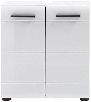 trendteam SN30101 Bad Waschbeckenunterschrank weiss hochglanz - badezimmermöbel weiß hochglanz