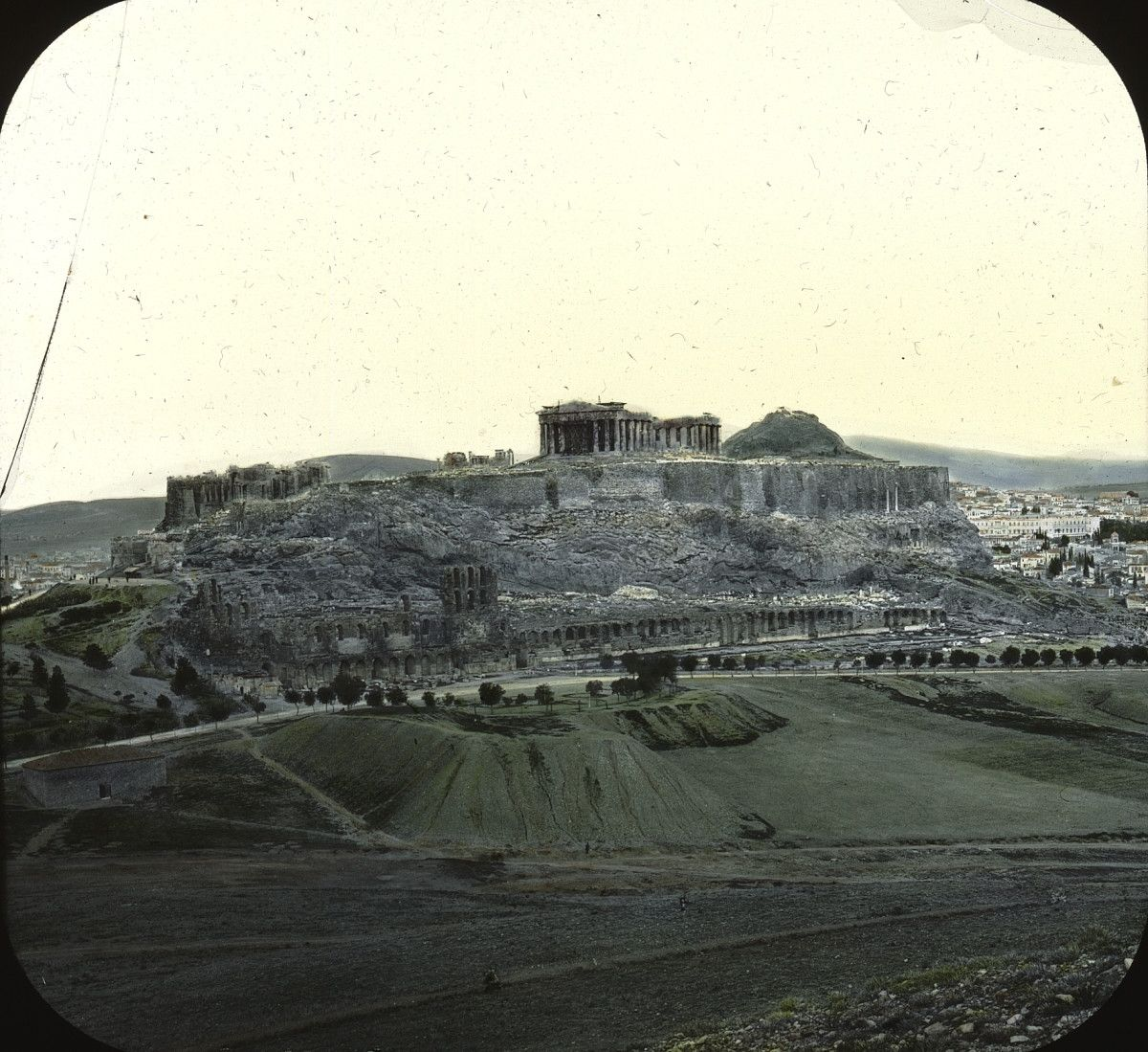 The Acropolis of Athens sometime around 1900 (color)