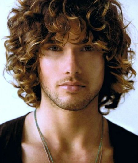 mens long hair hairstyles | hairstyle | Long curly ...