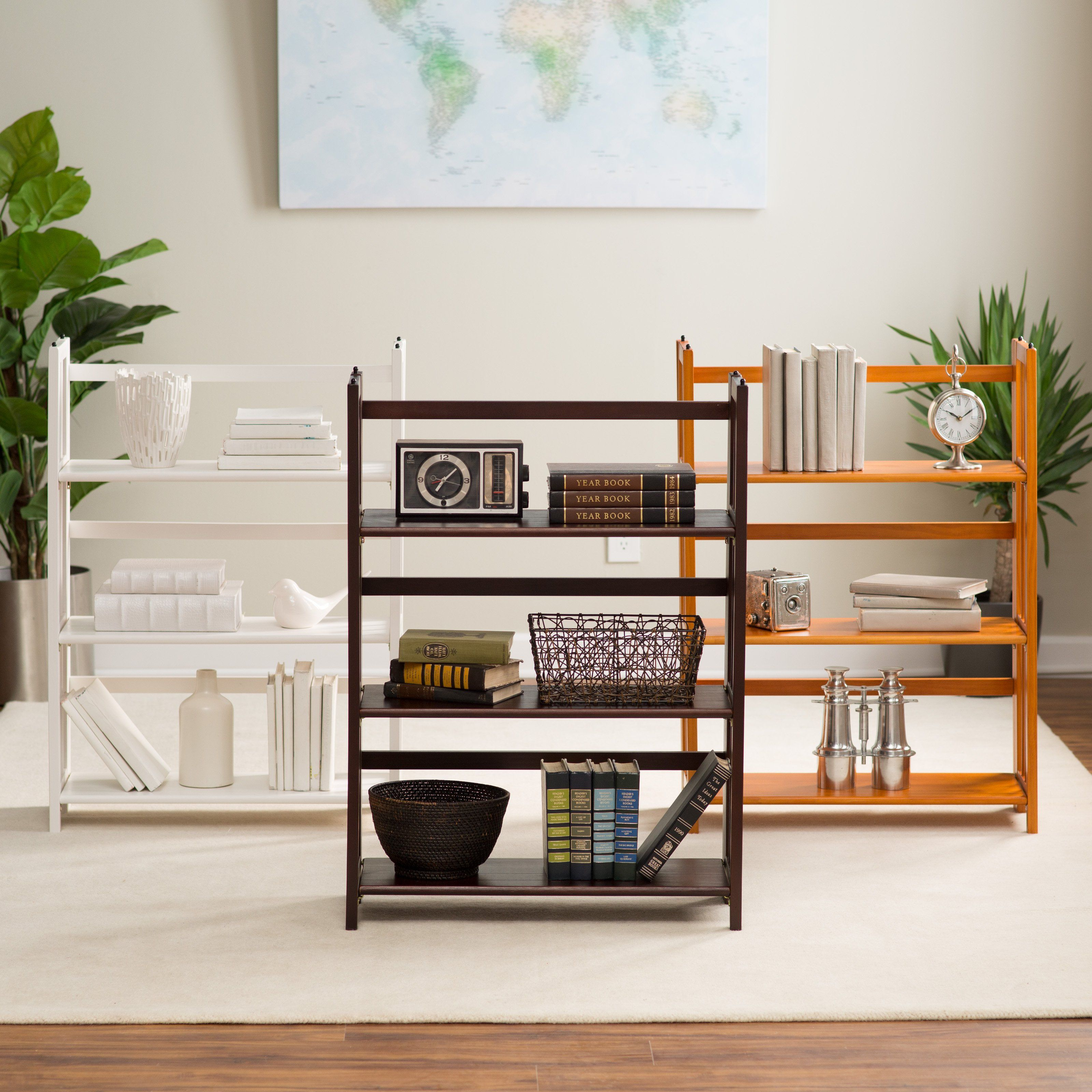 collectibles from bookshelf books with photos and bookcase style in pin your slatted manhasset display folding shelf this usa