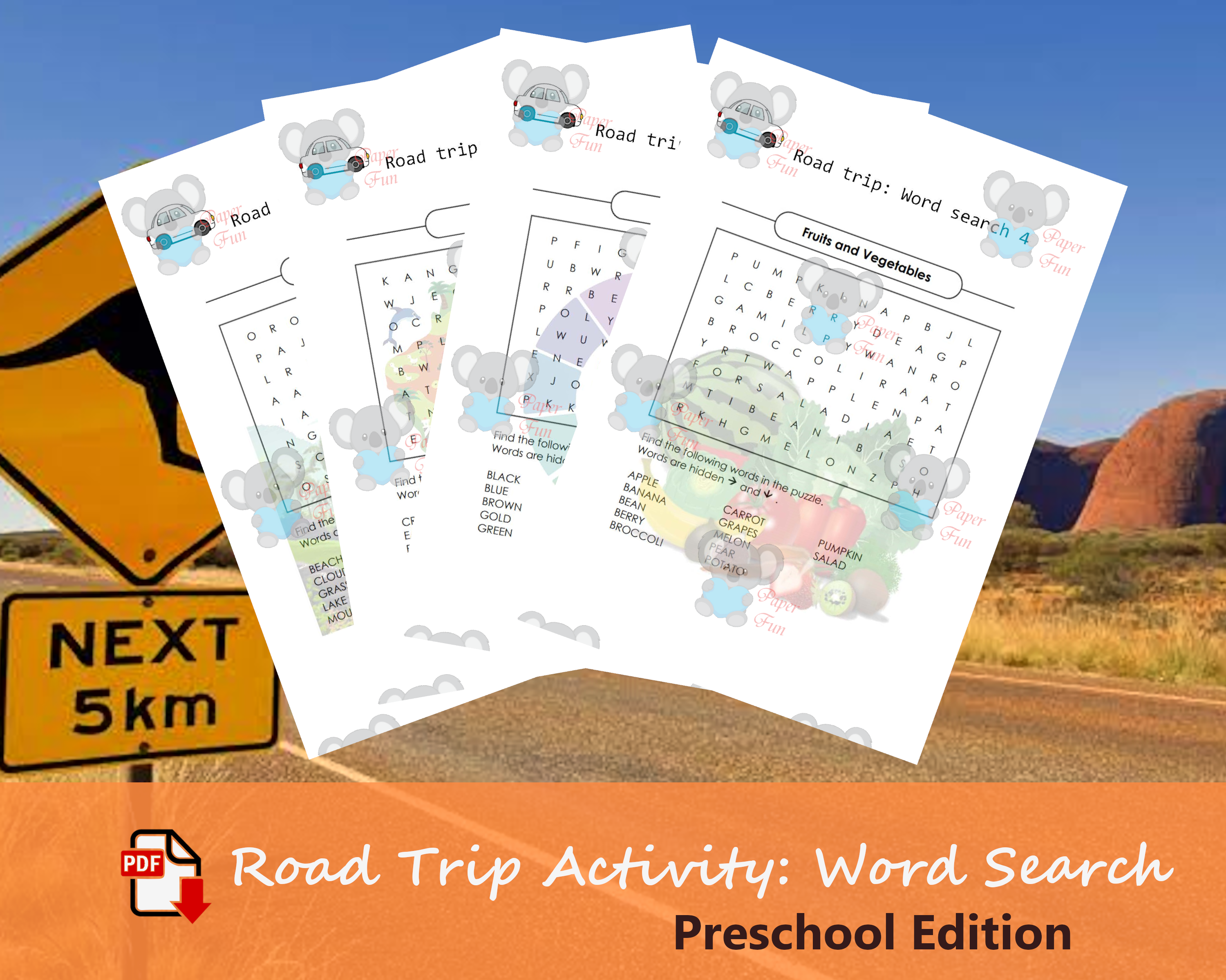 Road Trip Travel Activity For Kids Downloadable