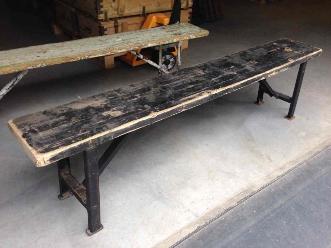 Industrial Vintage Bench Seat 01 Industrial And