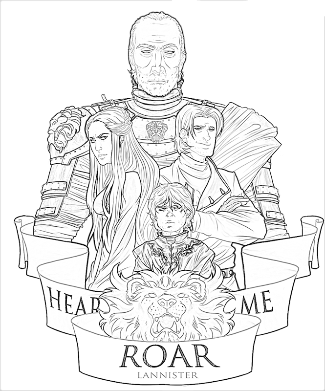 game of thrones colouring pages google search