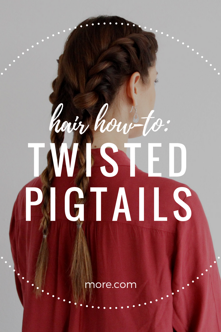 These twisted pigtails are as easy as they are adorable rope braid