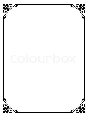 Stock vector of \u0027simple ornamental decorative frame\u0027 other crafts