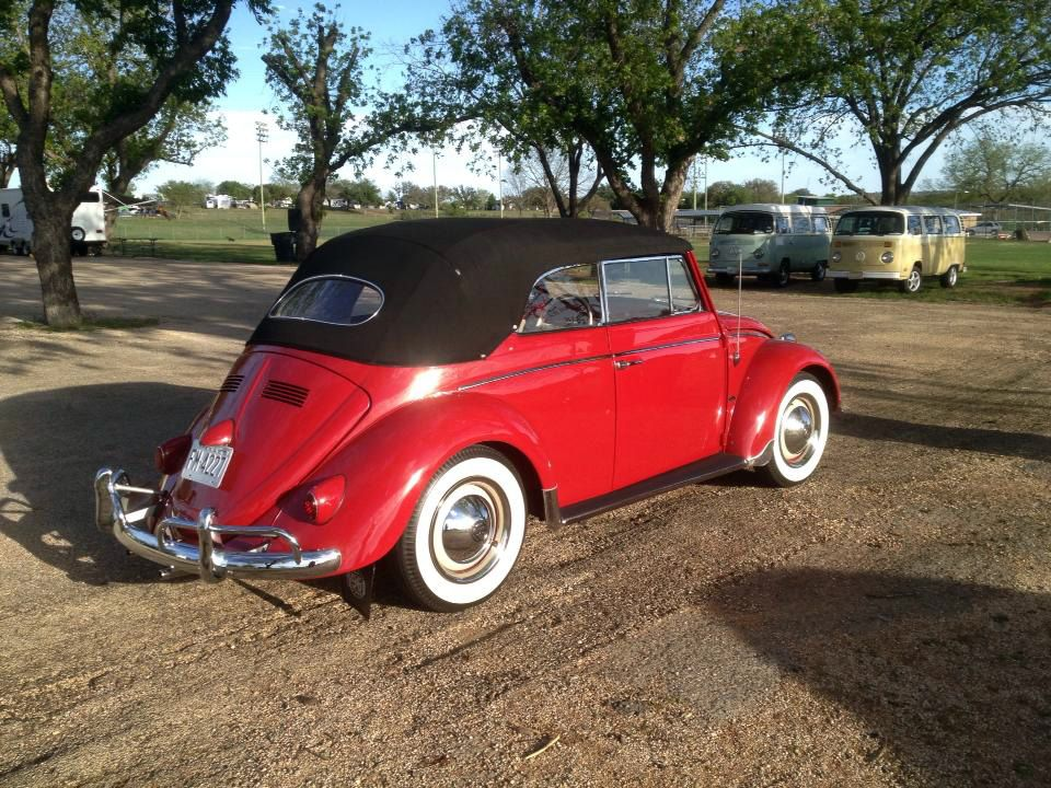 Sharon Neve, from Allen, Texas, U.S.A. Her 1961 Ruby Red VW Cabriolet named George. Restored in 2005 back to stock, 40hpr, 6 volt. She's owned him for 28 years. Sharon has won numerous awards & has the honor to be the only person to win Best of Show at The Texas VW Classic three times! Join her at: https://www.facebook.com/sharon.neve.12