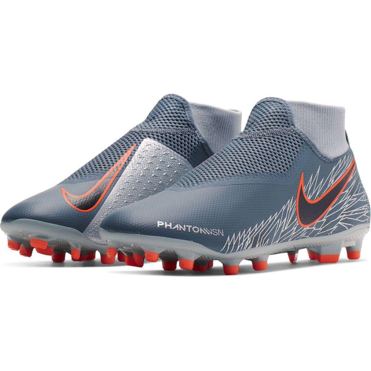 Buty Pilkarskie Nike Phantom Vsn Academy Df Fg Mg M Ao3258 408 Wielokolorowe Szare Football Shoes Shoes Nike Football