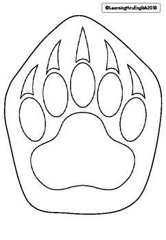 Measurement Draw A Life Size Polar Bear Paw Compare To