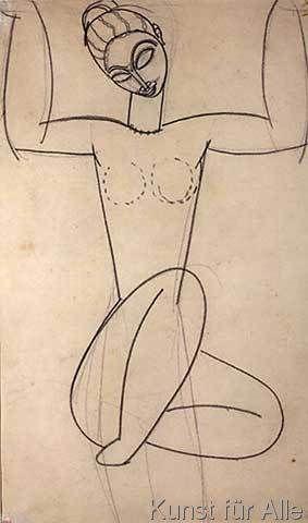 Amedeo Modigliani - Seated Caryatid, c.1911