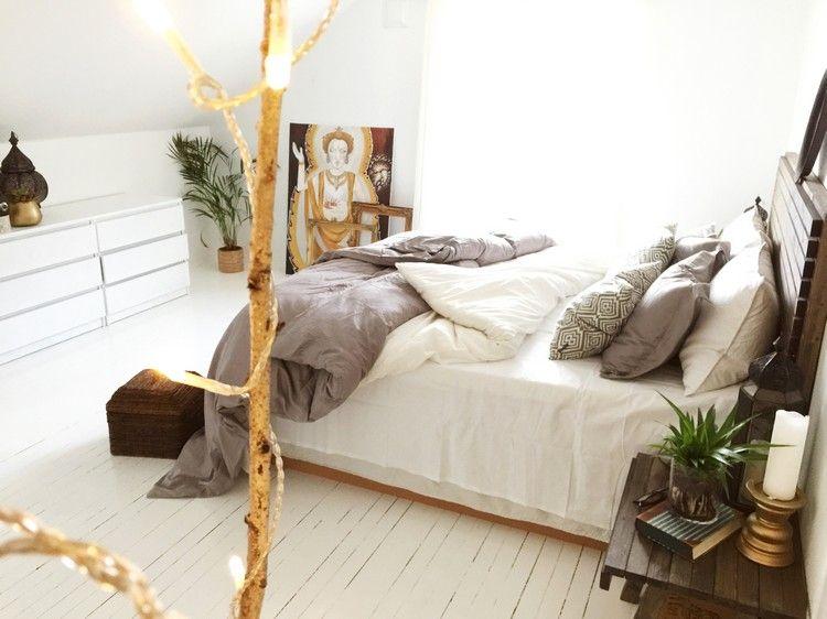 Chambre blanche en 65 super idées de meubles et décoration | Chambre ...