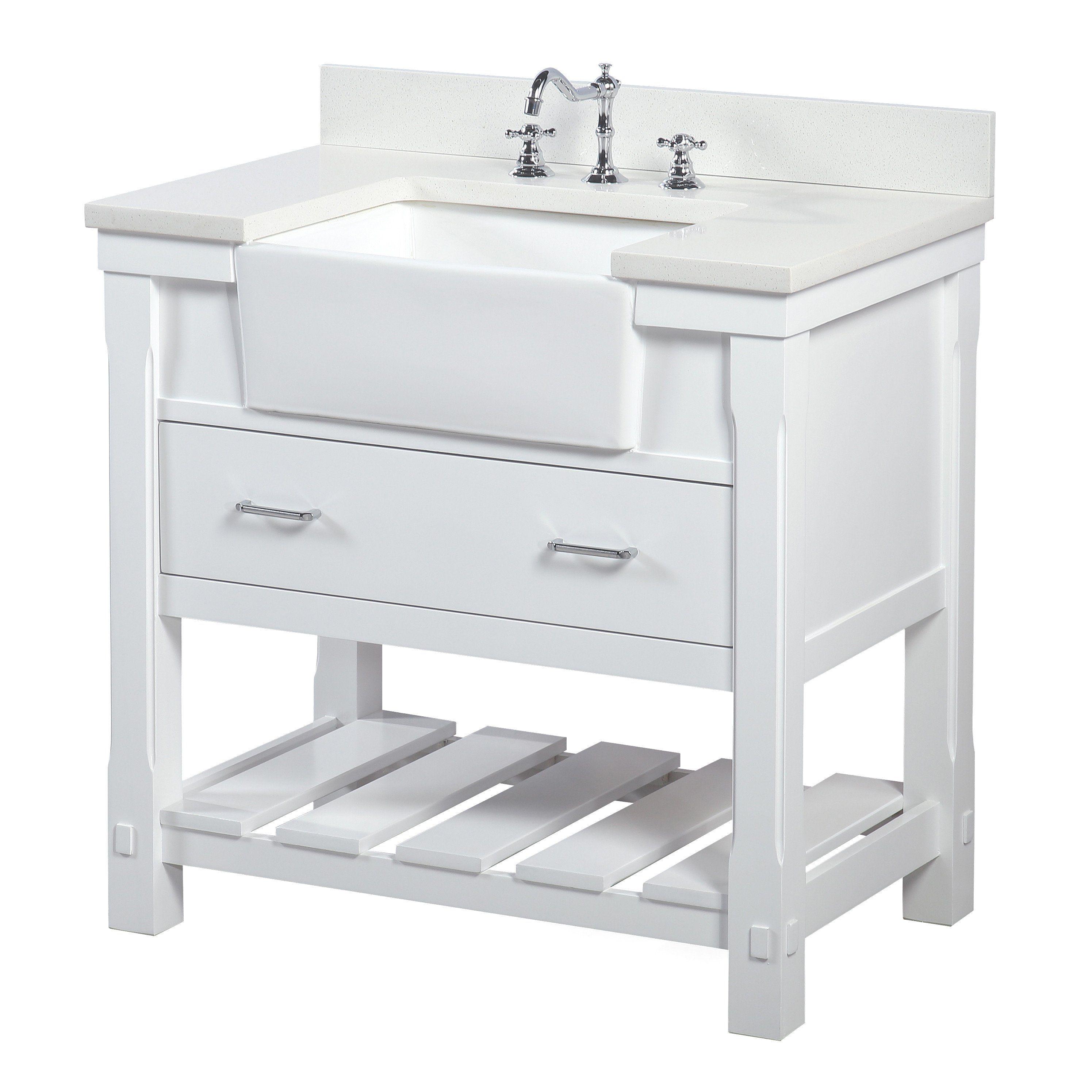 Charlotte 36 Inch Farmhouse Vanity With Quartz Top Single Bathroom Vanity Bathroom Vanity Farmhouse Vanity [ 2991 x 2991 Pixel ]