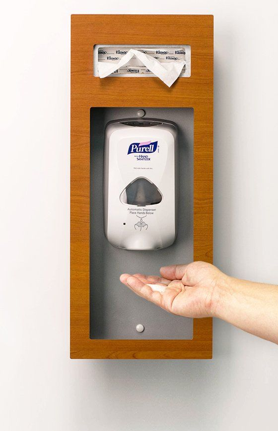 Purify Sanitizer Station With Tissue Holder Purell Formica Wild Cherry